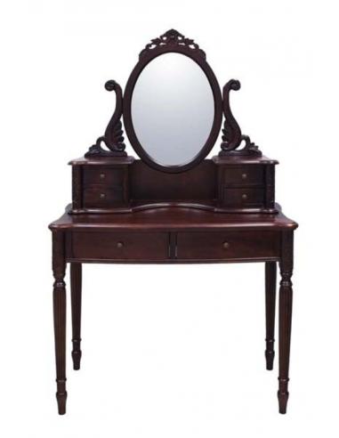 Toaletný stolík s oválnym zrkadlom...