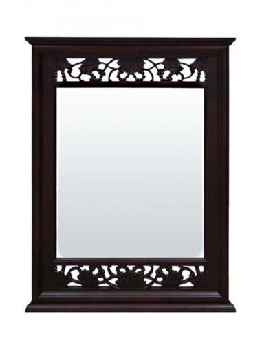 Tmavohnedné nástenné zrkadlo