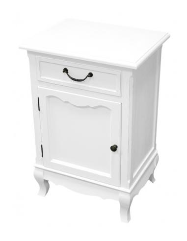 Nočný stolík biely S72302