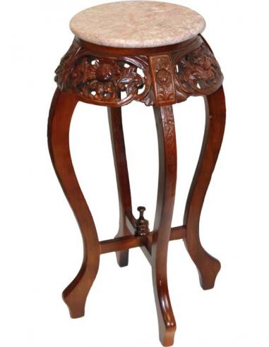 Okrúhla drevená stolička vyššia