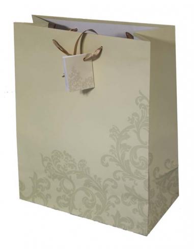 Krémová darčeková taška so štítkom