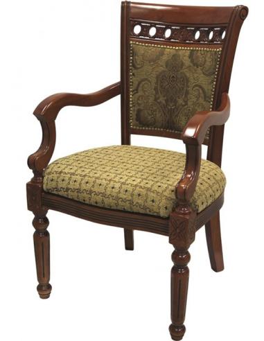 Luxusná stolička so zdobenými nohami