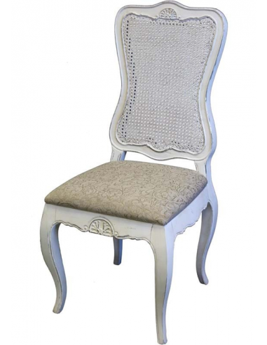 Biela stolička bez opierok