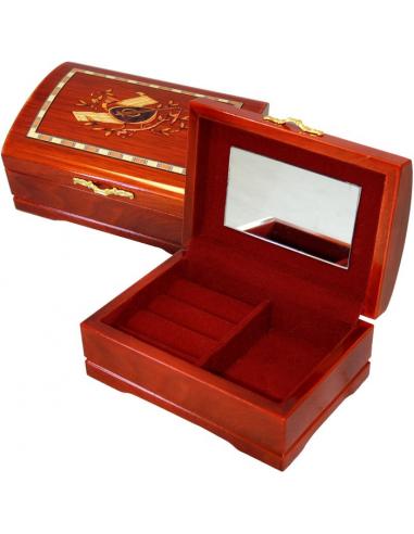Šperkovnica bordová S68496