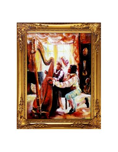 Obraz - Výuka hry na harfu