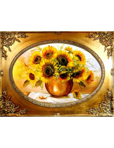 Obraz - Zdobená kytica slnečníc