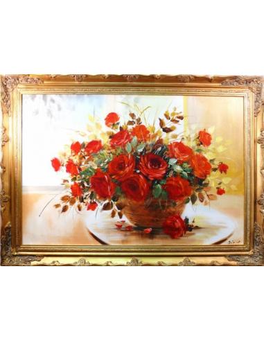 Obraz - Zdobená kytica červených ruží