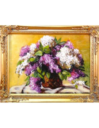 Obraz - Bielo-fialová kytica orgovánov