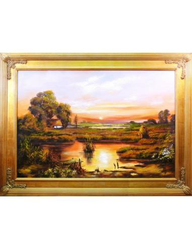 Obraz - Močiar pri západe slnka