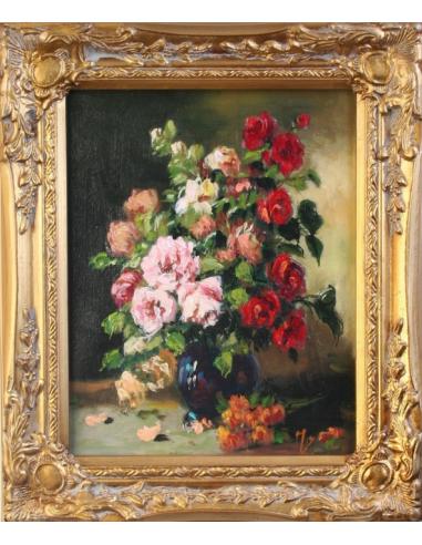 Obraz - Kytica červených a ružových ruží