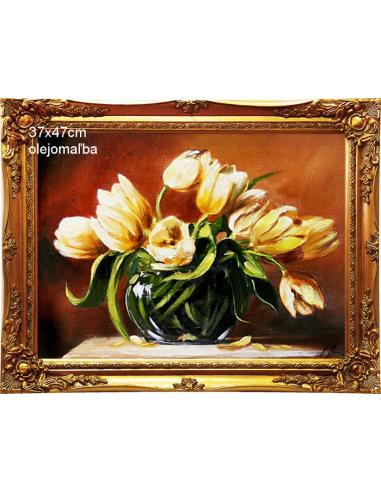 Obraz - Kytica žltých tulipánov