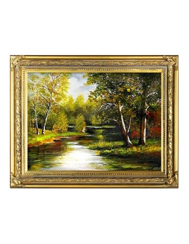 Obraz - Rozliaty lesný potok