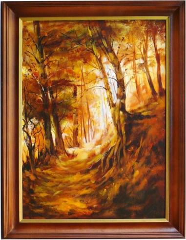 Obraz - Oranžový les