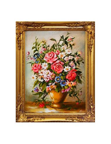 Obraz - Zdobená kytica záhradných kvetov