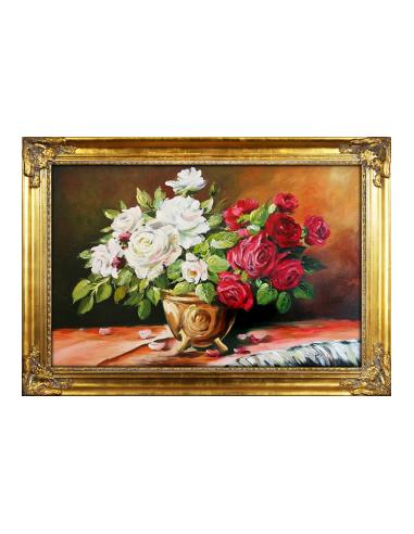 Obraz - Biele a červené ruže