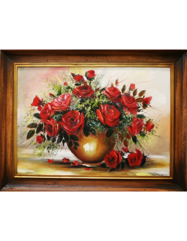 Obraz - Zdobená kytica ruží vo váze