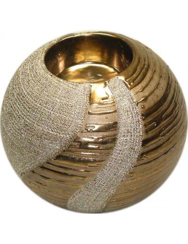 Zlatistý svietnik v tvare gule