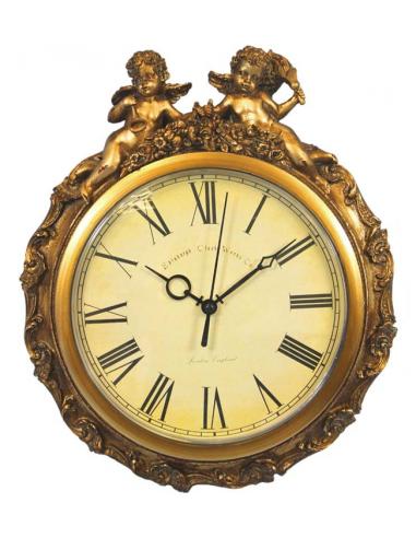 Zlatisté hodiny s anjelikmi H83093