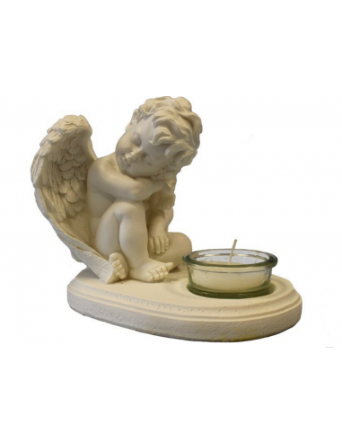 Soška anjelika so sviečkou S65425